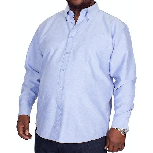 KAM Long Sleeve Oxford Shirt Denim