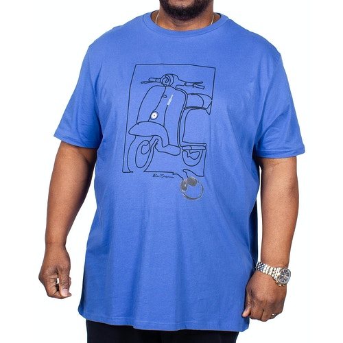 Ben Sherman Cord T-Shirt Blue