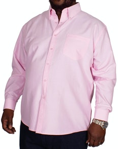 KAM Long Sleeve Oxford Shirt Pink