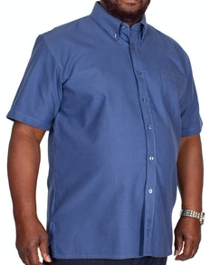 KAM Short Sleeve Oxford Shirt Navy