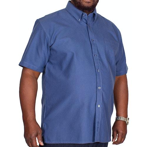 KAM Short Sleeve Oxford Shirt Navy