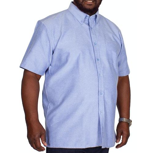 KAM Short Sleeve Oxford Shirt Denim