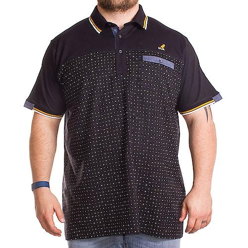 Kangol Chip Jersey Polo Shirt Black