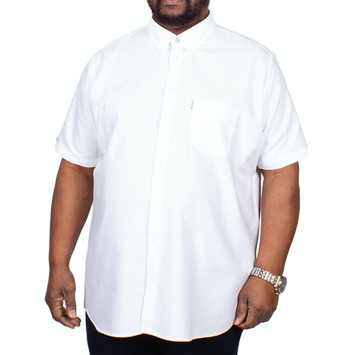 Ben Sherman Oxford Kurzarmhemd Weiß