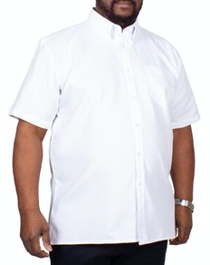KAM Short Sleeve Oxford Shirt White
