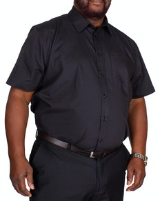 Bigdude Classic Short Sleeve Poplin Shirt Black