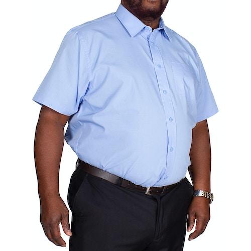 Bigdude Classic Short Sleeve Poplin Shirt Light Blue