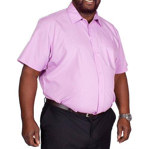 Bigdude Classic Short Sleeve Poplin Shirt Violet Tall