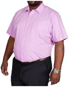 Bigdude klassisches Kurzarm Popeline Hemd Lila