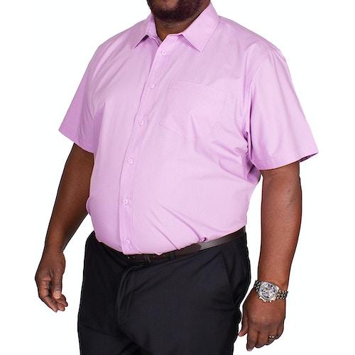 Bigdude Classic Short Sleeve Poplin Shirt Violet
