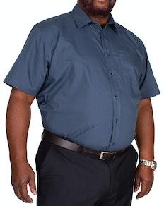 Bigdude Classic Short Sleeve Poplin Shirt Petrol Tall