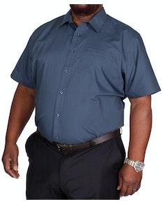 Bigdude klassisches Kurzarm Popeline Hemd Petrol