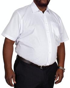 Bigdude Classic Short Sleeve Poplin Shirt White Tall