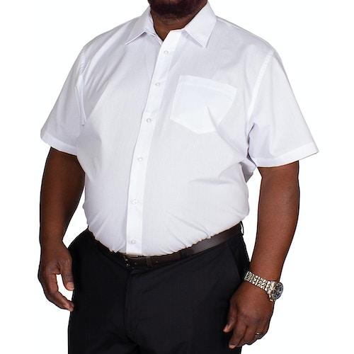 Bigdude Classic Short Sleeve Poplin Shirt White