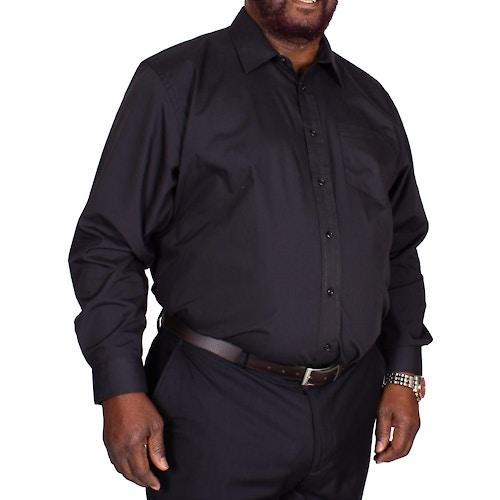 Bigdude Classic Long Sleeve Poplin Shirt Black Tall