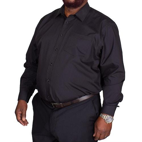 Bigdude Classic Long Sleeve Poplin Shirt Black
