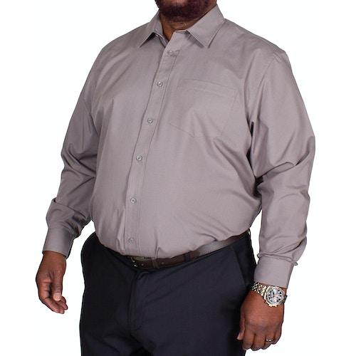 Bigdude Classic Long Sleeve Poplin Shirt Charcoal