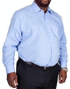 Bigdude Classic Long Sleeve Poplin Shirt Light Blue