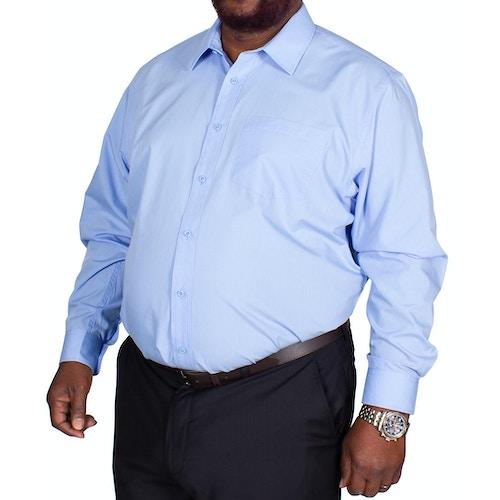 Bigdude Classic Long Sleeve Poplin Shirt Light Blue Tall
