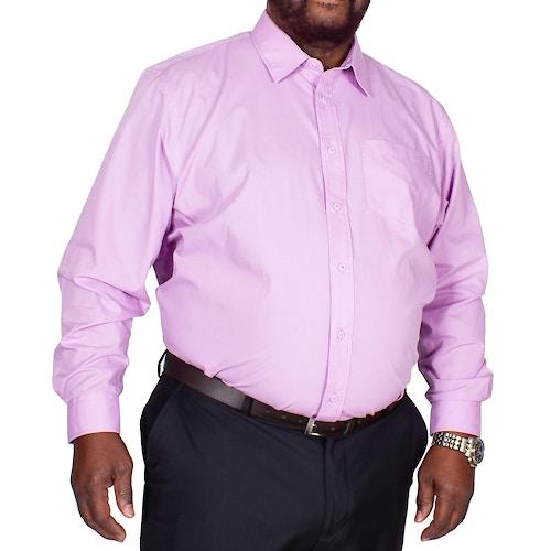 Bigdude Classic Long Sleeve Poplin Shirt Violet Tall