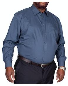 Bigdude Classic Long Sleeve Poplin Shirt Petrol Tall