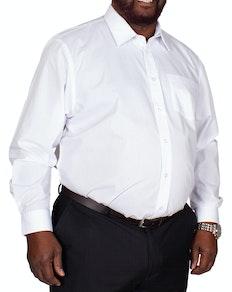 Bigdude Classic Long Sleeve Poplin Shirt White Tall