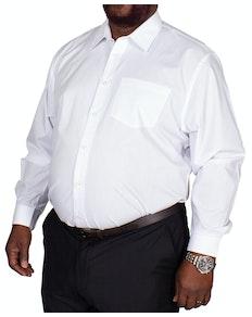 Bigdude klassisches Popeline Hemd Weiß