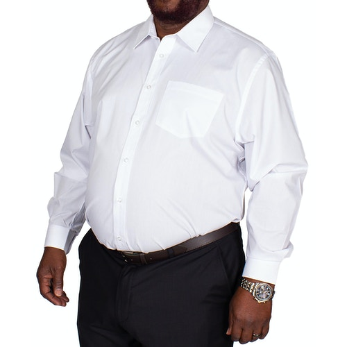 Bigdude Classic Long Sleeve Poplin Shirt White