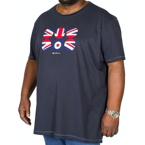 Ben Sherman Flag Circles T-Shirt Navy