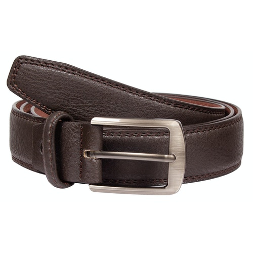 Clive Leather Stitch Detail Belt Brown