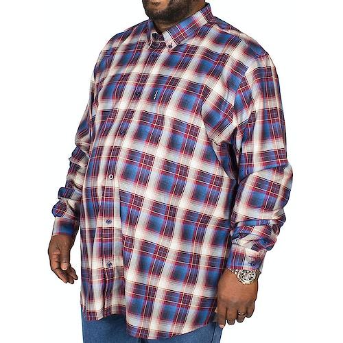 Ben Sherman Ombre Check Shirt Wine