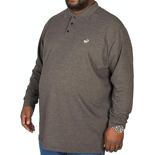 Bigdude Langarm Poloshirt Anthrazit