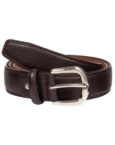Harry Leather Stitch Detail Belt Brown