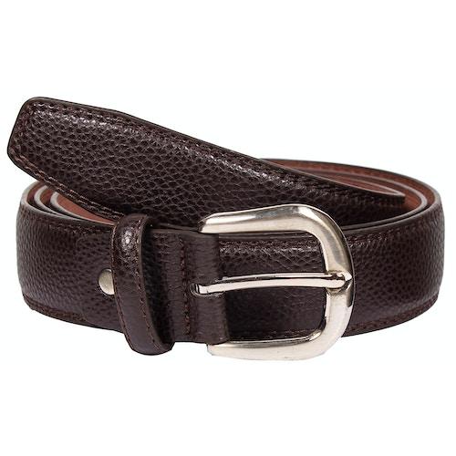 Harry Leather Stitch Detail Belt Brown
