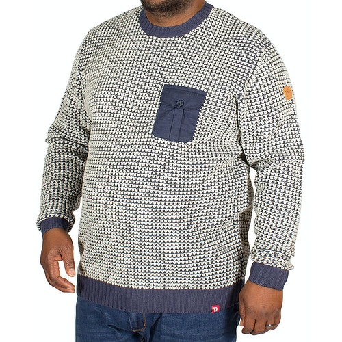 D555 Jerry Honeycomb Knit Sweater Navy