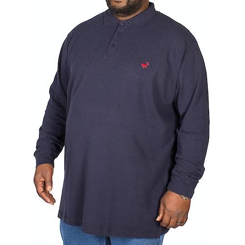 Bigdude Langarm Poloshirt Dunkelblau