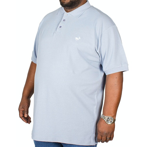 Bigdude Embroidered Polo Shirt Denim