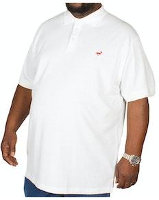 Bigdude Embroidered Polo Shirt White