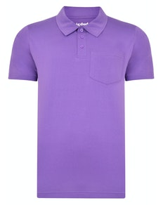 Bigdude Jersey Polo Shirt With Pocket Purple