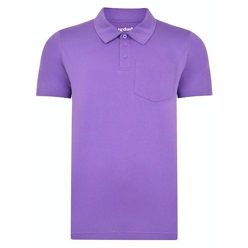 Bigdude Jersey Poloshirt mit Brusttasche Lila