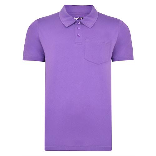 Bigdude Jersey Polo Shirt With Pocket Purple Tall