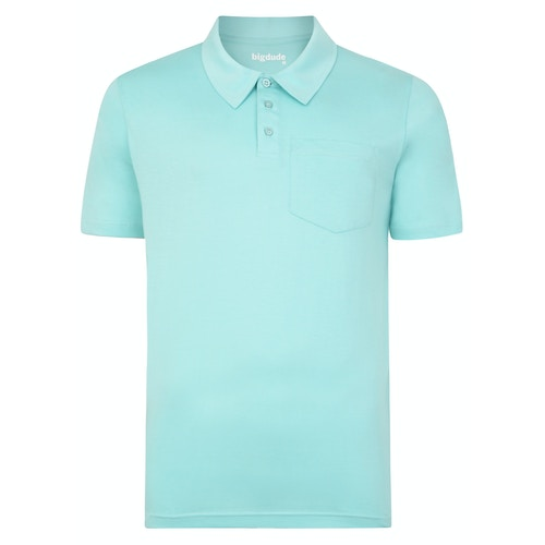 Bigdude Jersey Polo Shirt With Pocket Turquoise