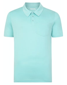 Bigdude Jersey Polo Shirt With Pocket Turquoise Tall