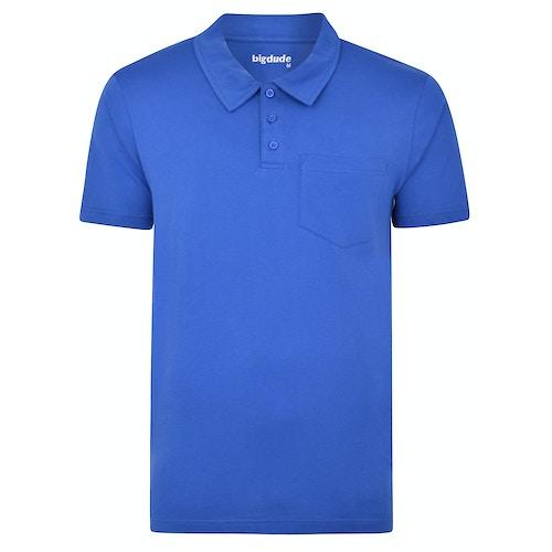 Bigdude Jersey Polo Shirt With Pocket Royal Blue