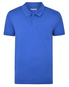 Bigdude Jersey Polo Shirt With Pocket Royal Blue Tall