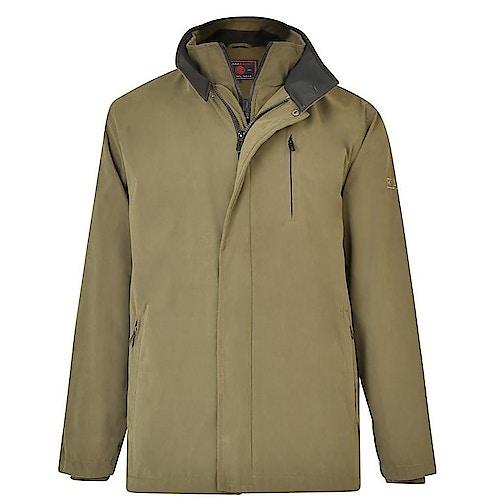 KAM Smart Soft Touch Coat Khaki