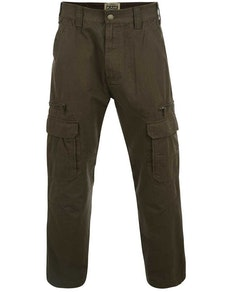 KAM Khaki Relaxed Fit Cargo Pants