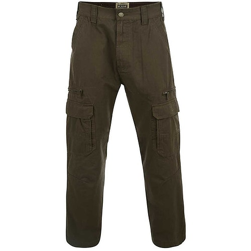 KAM Khaki Relaxed Fit Cargo Pants