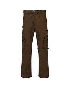 KAM Zip Off Cargo Trousers Khaki