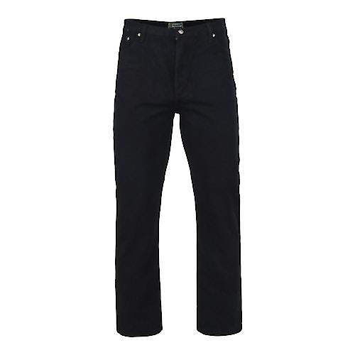 KAM Tall Fit Jeans Black